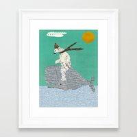 sailing Framed Art Prints featuring sailing by bri.buckley