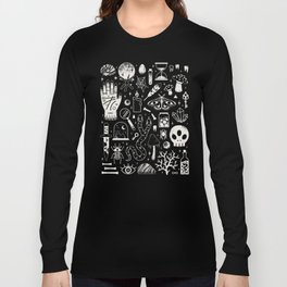 Curiosities: Bone Black Long Sleeve T-shirt