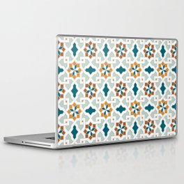Geometric Pattern, oriental style (nature color set)  traditional morocco tile pattern Laptop & iPad Skin