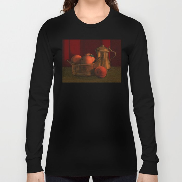 Still life with peaches Long Sleeve T-shirt