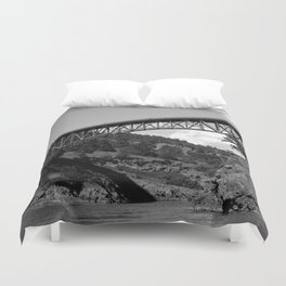 Deception P The Bridge To Whidbey Island Duvet Cover