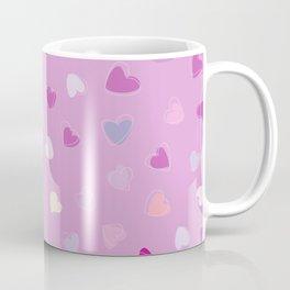 Love, Romance, Hearts - Blue Purple Pink White Coffee Mug