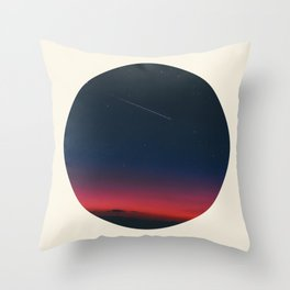 Pink Purple & Navy blue Sunset With Shooting Star Throw Pillow