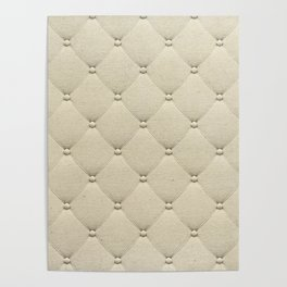 Cream Quilted Poster