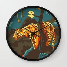 Eye of the tiger Wall Clock