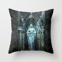 bible verses Throw Pillows featuring The Dying Verses 2 by Helheimen Design