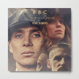 Peaky Blinders, Cillian Murphy, Thomas Shelby, BBC Tv series, Tom Hardy, Annabelle Wallis Metal Print