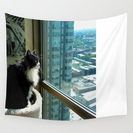Surveying Her Realm (Gracie Queen of Chicago Collection) Wall Tapestry