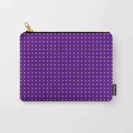 polk-a-dots orange on dark purple Carry-All Pouch