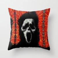 scream Throw Pillows featuring Scream by brett66