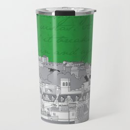 Edinburgh Skyline (Green) Travel Mug