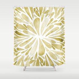 Symmetrical drops - yellow Shower Curtain