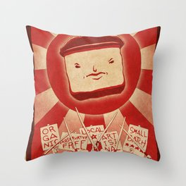 Tofu Revolution Throw Pillow