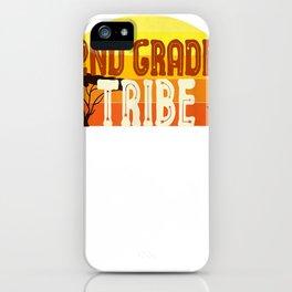 second grade tribe teacher student team 2nd grade retro tee iPhone Case