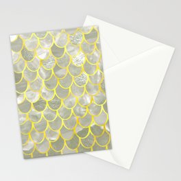 mother of pearl mermaid Stationery Cards