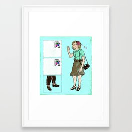 The Trouble with Online Dating Framed Art Print