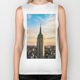 The Empire State Building in New York City (Color) Biker Tank