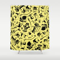 memphis Shower Curtains featuring Memphis by Mario Graciotti
