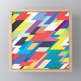 Layers Triangle Geometric Pattern Framed Mini Art Print
