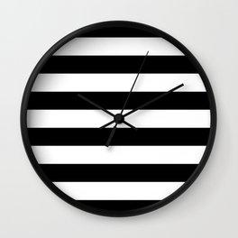Stripe Black And White Horizontal Line Bold Minimalism Wall Clock