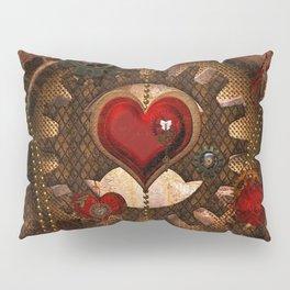 Steampunk, awesome steampunk heart Pillow Sham