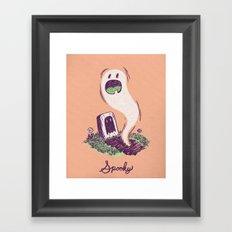 Spooky Ghostie Framed Art Print