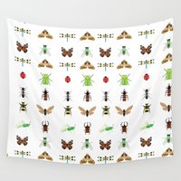 insects Wall Tapestries featuring insects by Alysha Dawn