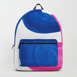 Colorful Minimalist Pop Art Mid Century Modern Style Rose Magenta Phthalo Blue Bubbles Backpack