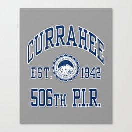 Currahee Athletic Shirt Canvas Print