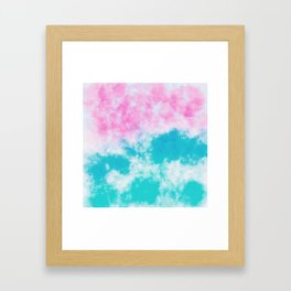 Pink and blue watercolor effect Framed Art Print