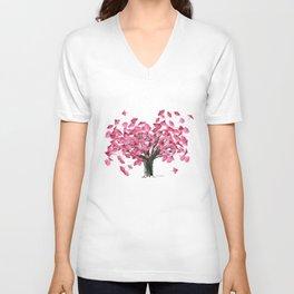 Cherry Tree Unisex V-Neck