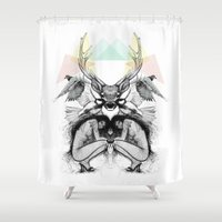wild things Shower Curtains featuring Wild Things by MadeByLen
