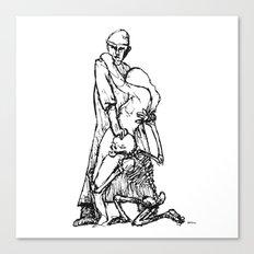 Der Artz, das Mädchen und der Tod  Canvas Print