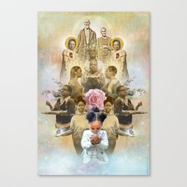 Healing the Past & Present for the Future: A TLCbyTLJ & Black Lives Matter Collaboration Canvas Print