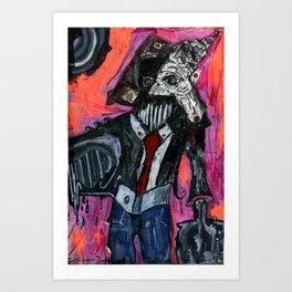 Harry Visits The Temp Agency Art Print