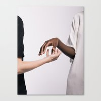 hands Canvas Prints featuring Hands by Chris Schoonover
