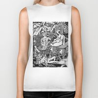 bisexual Biker Tanks featuring Psychedelic Visions of the Bisexual Shaman Chicks by cahill wessel