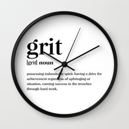 Grit Definition Wall Clock