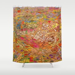 Gold light interlacing straw Shower Curtain
