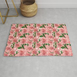 Pink lilies pattern Rug