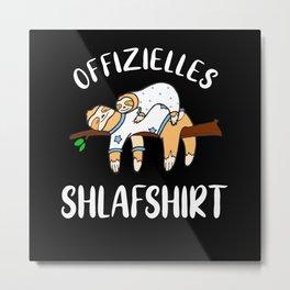 Faultiere Schlafshirt Pyjama Langschläfer Geschenk Metal Print