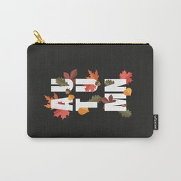 Autumn word and leaves WHITE Carry-All Pouch