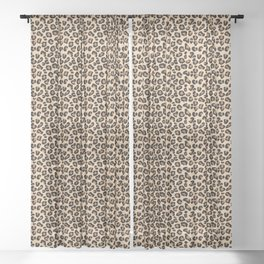 Leopard Print, Black, Brown, Rust and Tan Sheer Curtain