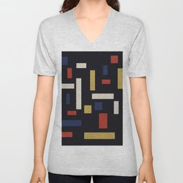 Composition VII The Three Graces (High Resolution Reproduction) Unisex V-Neck