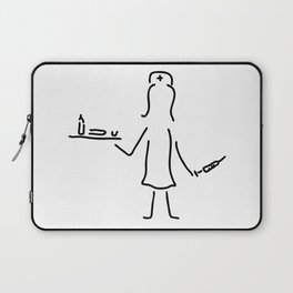 nurse in the hospital with syringe and medicine Laptop Sleeve