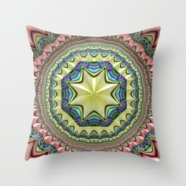 Starshine, colorful abstract Throw Pillow