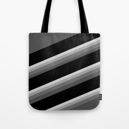 Simple black and white striped pattern . Oblique stripes . Tote Bag
