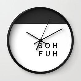 'sohfuh (Sofa) Wall Clock