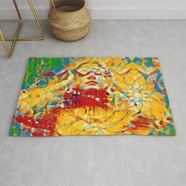 6759s-KMA The Woman in the Stained Glass Sensual Feminine Energy Emerging Rug