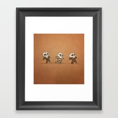 Little Skull Men Framed Art Print